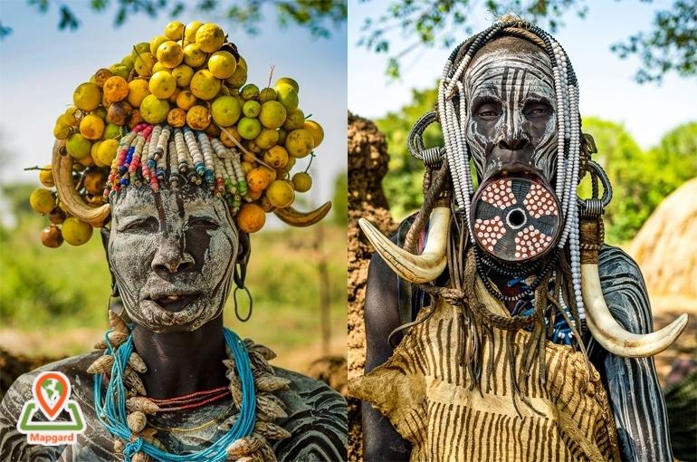 بخشی از زیبایی زنان قبلیه ای در اتیوپی (Ethiopia) از نگاه یک عکاس