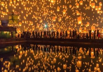 جشنواره فانوس یی پنگ (Yi Peng Lantern Festival) | تایلند (Thailand)